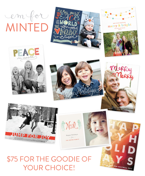 Minted giveaway - Em for Marvelous
