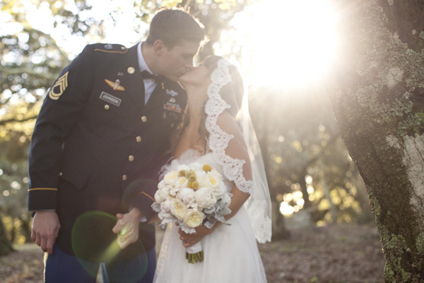 A slightly military wedding ceremony em for marvelous for Free wedding dresses for military brides
