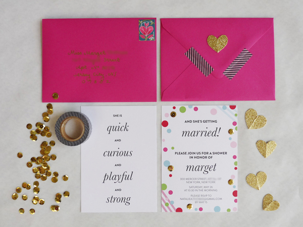 A Kate Spade Bridal Shower The Invitations