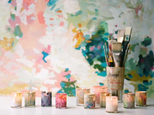 DIY-painted-candleholders-colorful-wedding-ideas