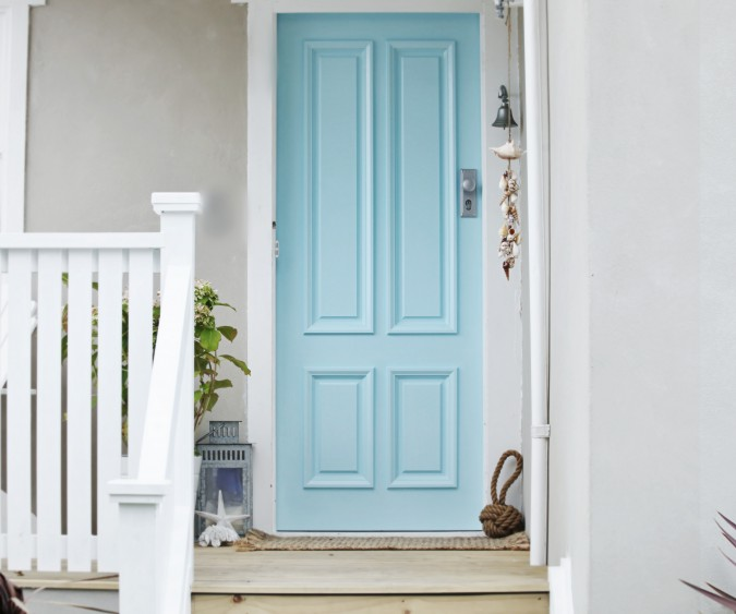 0 Comments & blue cottage door - Em for Marvelous -