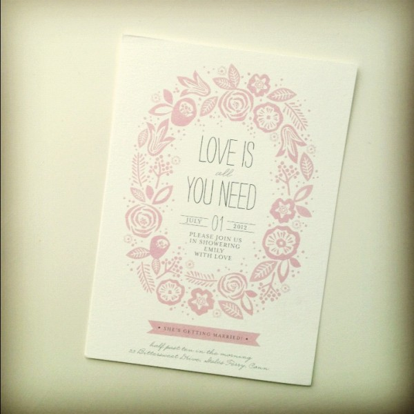 Minted shower invitation