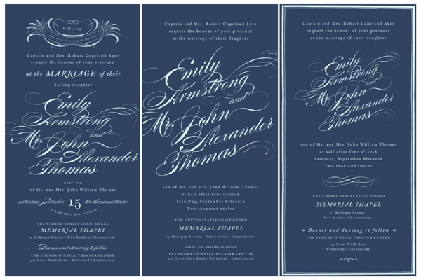 Parts Of Wedding Invitation: Our Wedding Invitations, Part One
