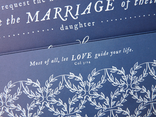 Southern wedding - invitation with verse