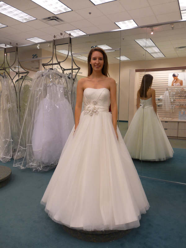 David's Bridal Oleg Cassini ball gown