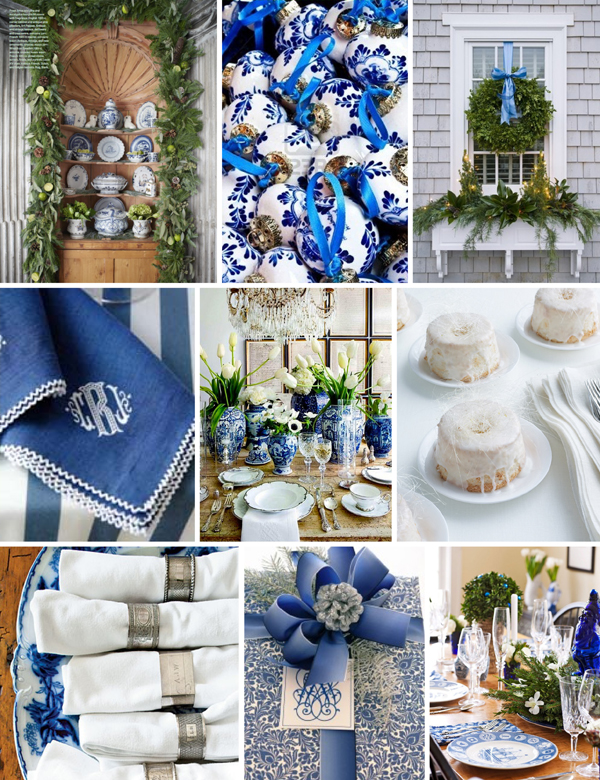 Board No 97 Blue And White Christmas Em For Marvelous