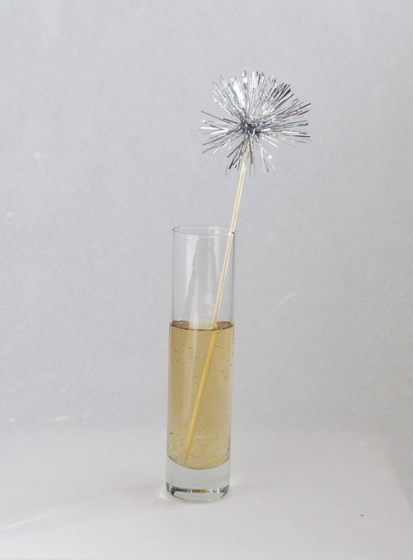 silver tinsel stirrers