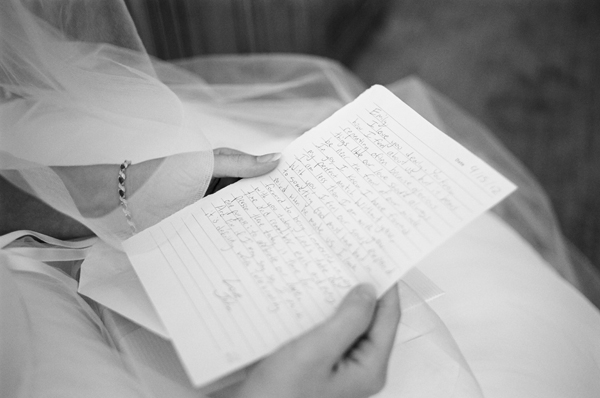 wedding morning letter