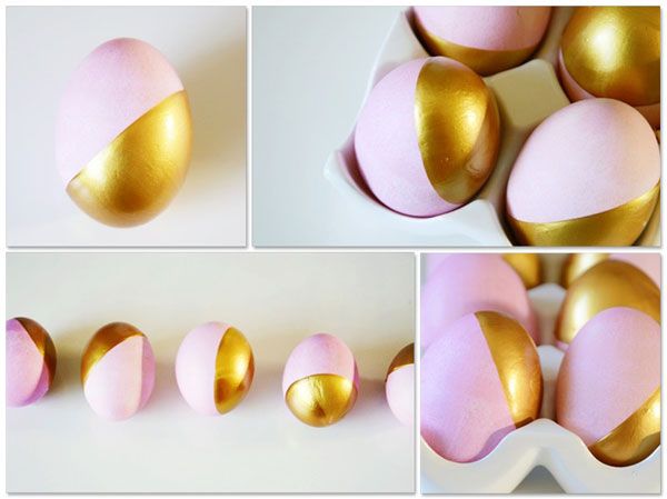gilded easter dip-dyed-eggs