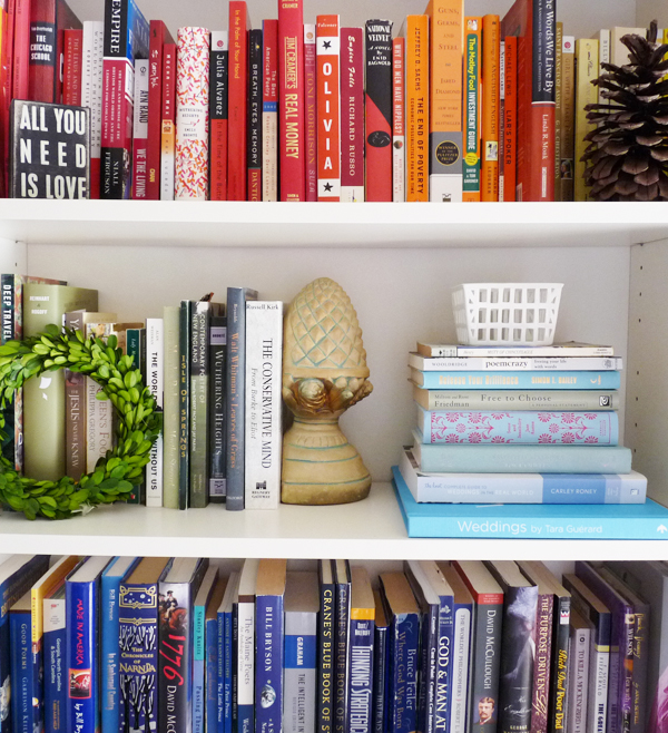 rainbow bookcase ideas
