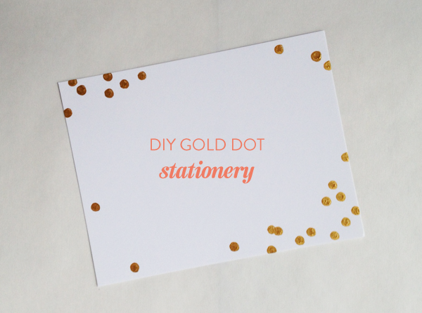 diy-gold-dot-stationery