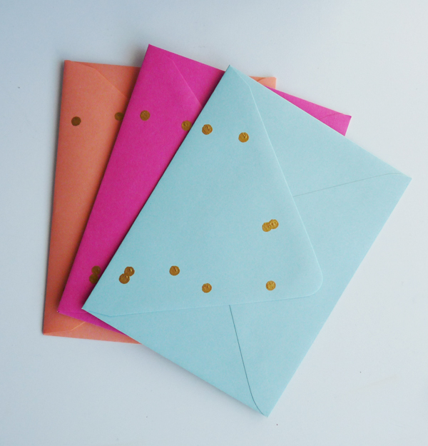gold-dot-envelopes