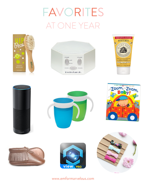 one year baby favorites