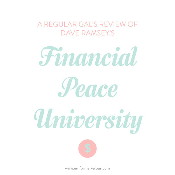 financial peace university review