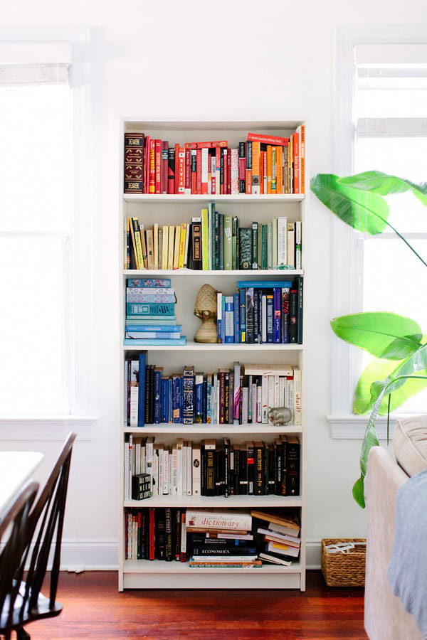 rainbow book shelf